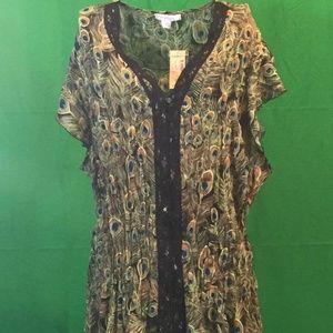 Peacock printed blouse